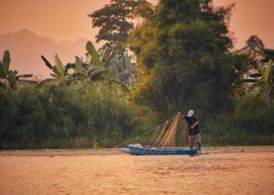Kanchanaburi -Fisherman