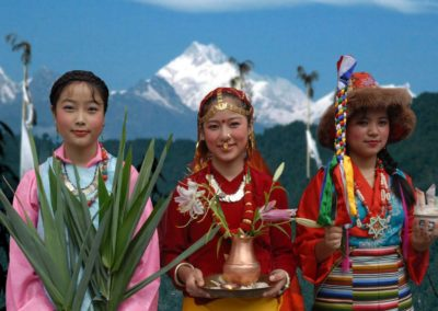 Women-in-Traditional-Attire-Sikkim